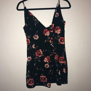 Black floral dress!